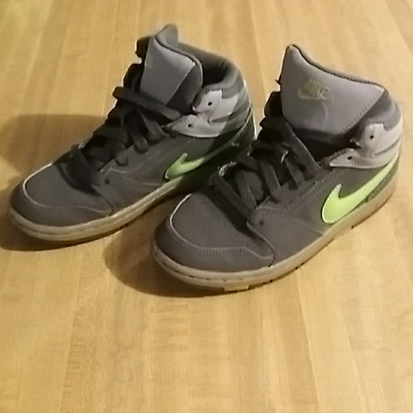 Kids size 13c. Nike high top air force ones.